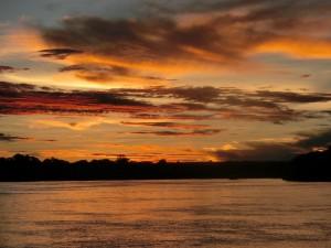 ザンベジ川の夕日