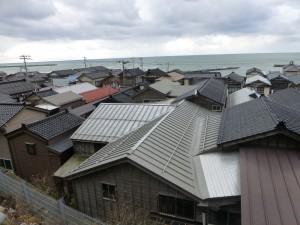 日本海の町並み
