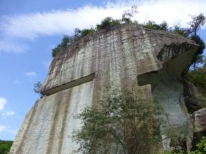 大谷石の山