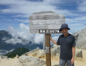 甲斐駒ヶ岳山頂にて